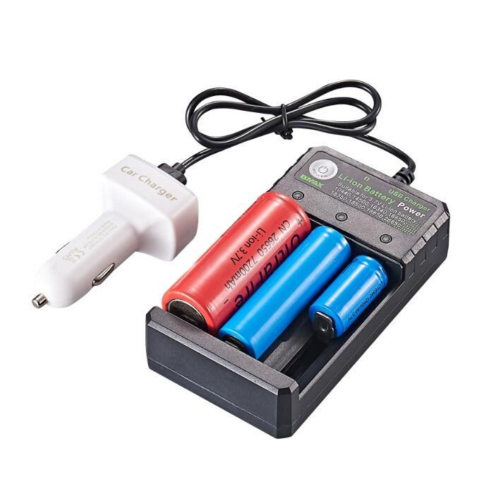 다기능 18650 USB 충전기 3 슬롯 리튬 이온 배터리 전원 3.7V 26650 10440 16340 16650 18350 18500 충전식 리튬 배터리의 경우