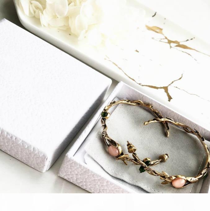 la joyería famosa de la vendimia Viejo guirnalda de la perla de vacaciones Pendientes letra C y D pendientes de las mujeres regalos de joyas de boda