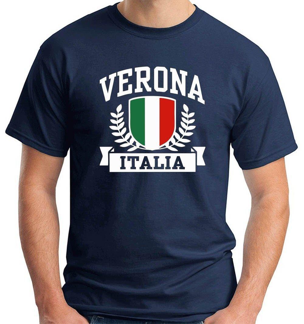Горячие Продаем 2019 Мода футболка Verona Италия Footballer Футболки с коротким рукавом
