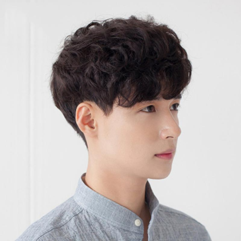 Korean Handsome Men With Short Curly Hair And Full Bangs Wig Headgear Hair Wigs For Women Capless Wigs From Ling199518 5 28 Dhgate Com