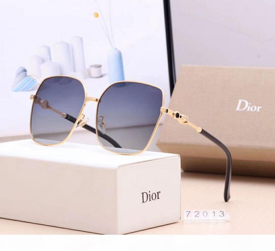 Designer of popular sunglasses for women's wear brand 72013 square summer wear full frame high-quality anti-ultraviolet mixed color mat