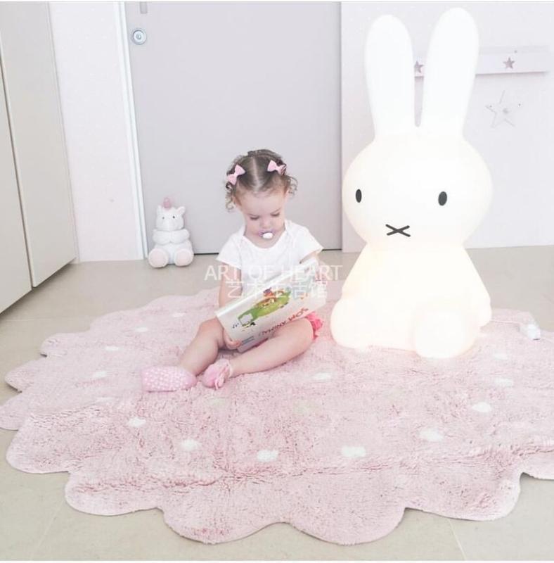 tapis nordique petit tapis dentelle sol décoration chambre d'enfants de tapis bébé jeu d'activités ramper tir en caoutchouc souple props LB61718