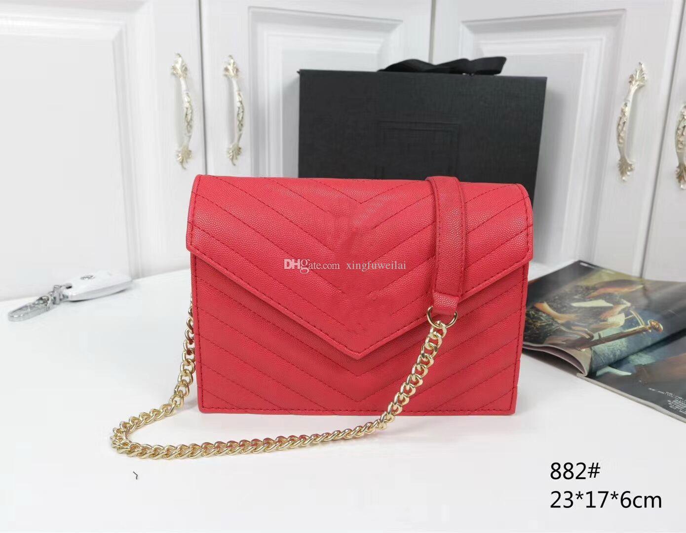 Frauen Umhängetasche Mode Damen Handtaschen Kette Taschen Casual Messenger Pure Farbe Weibliche Gute Qualität