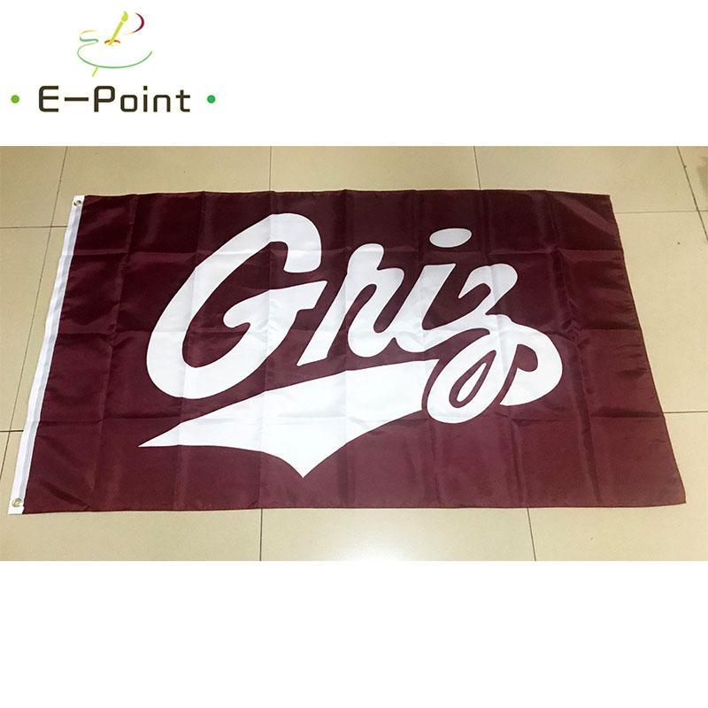 Drapeau de la NCAA Grizzlies et Lady Montana Griz polyester Drapeau 3ft * 5ft (150cm * 90cm) Drapeau décoration bannière de vol jardin maison cadeaux en plein air