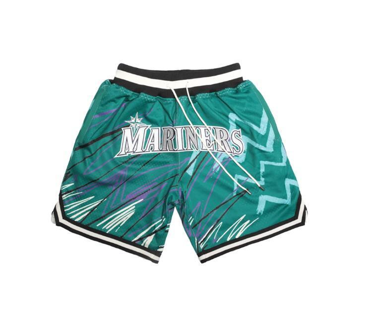 SEATTLEMarinersMänner Shorts einfach nicht von Mitchell Ness Baseball Pocket Pants Team S-2XL