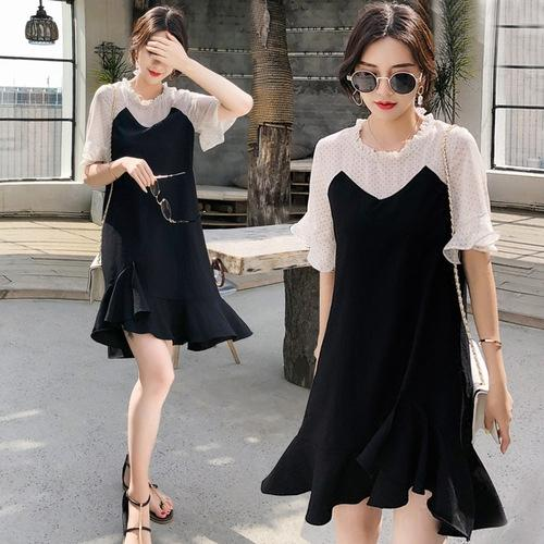 vzHG3 61No3 2020 dress new Korean style skirt skirts young western style waist thick belly hiding fish Summer tail for women
