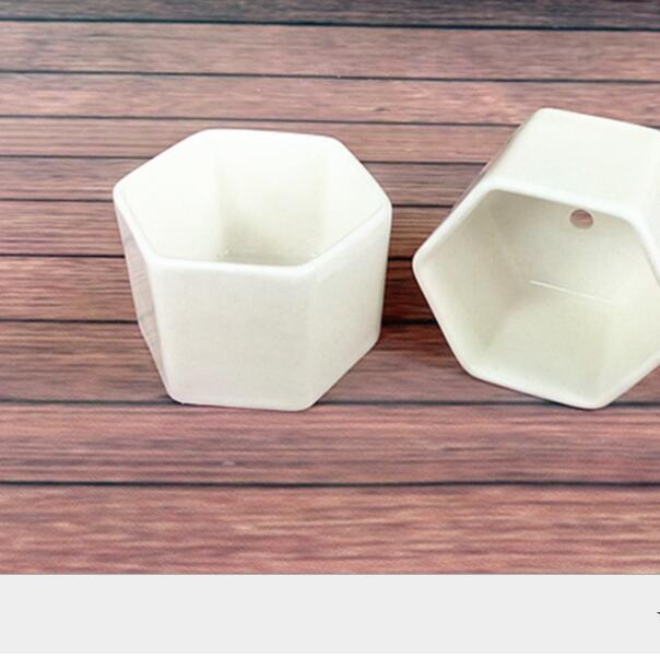 288pcs bonsai vasos de cerâmica atacado mini-branco porcelana Vasos fornecedores para semear suculentas plantadores casa Nursery interior