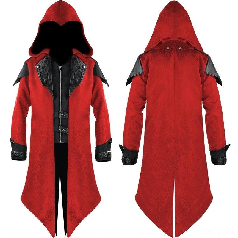 2020 cappotto medievale Halloween cappotto cucitura Uomini Halloween 2020 cuciture medievale rOb7L Uomo