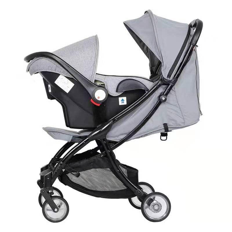 2020 4 1 유모차 카시트 유모차 아기 바구니 운송 앉아 및 자동 접이식 유아 유모차 거짓말