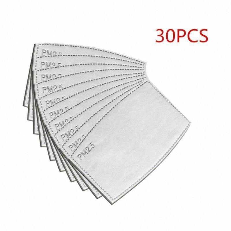 30 piezas de filtro de carbón activado PM2.5 máscara facial de respiración bucal de protección Insertar Ma Máscara de polvo Dropshipp vixQ #