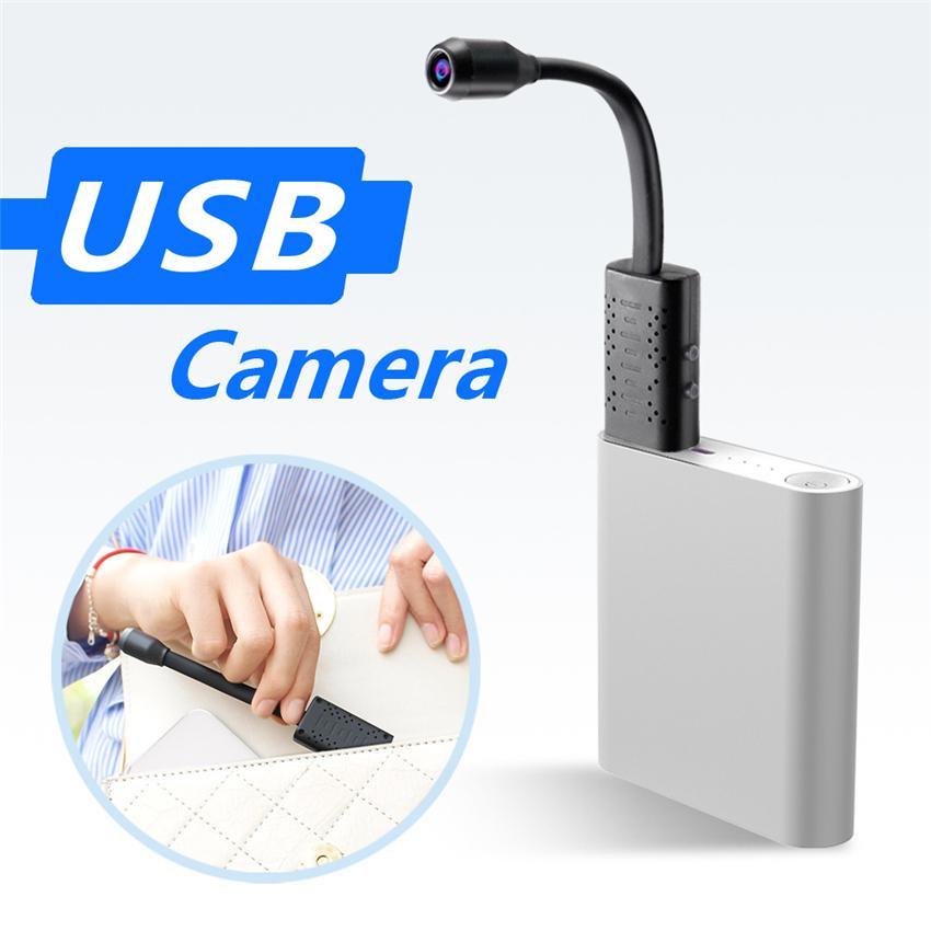 Caméras de surveillance Avec Wifi USB Mini caméra IP USB Full HD 1080P P2P CCTV Carte SD Cloud Storage intelligent AI Détection humaine V380 APP