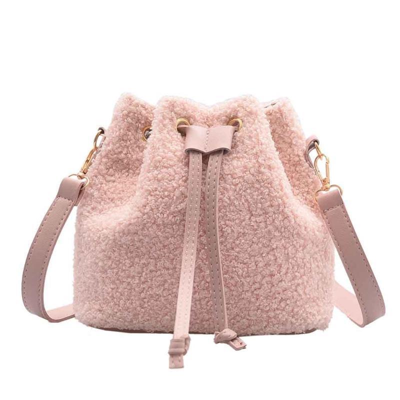 OCARDIAN Femmes Sacs à main 2020 Mode Femmes Nouveau Simple Woollen Sac bandoulière Messenger Sac à cordonnet étudiants Casual Handbags