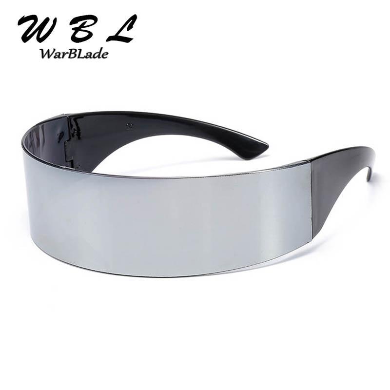 Warblade Senhoras Quadro Alto Envoltório Preto 2020 Novos Óculos De Sol Fato Plano Novidade Vidro Partido Mens Engraçado Top Quality KPNBL