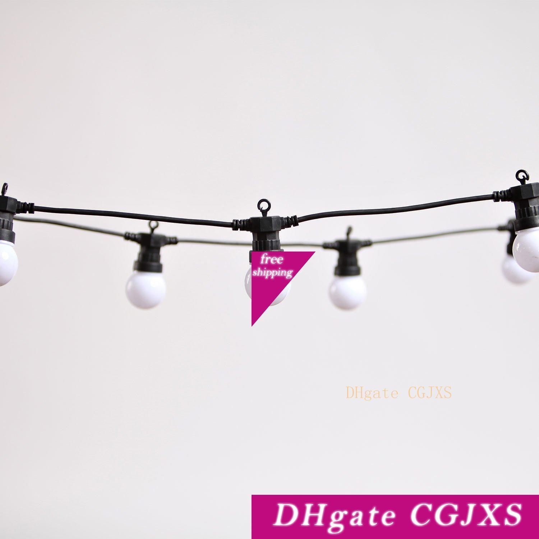 10 m 20 Led Globe ampoule cordes lumière claire / Milky Ampoules Connectable Vintage Frosted Light cordes boule fête de Noël Fée Lumière EU Plug
