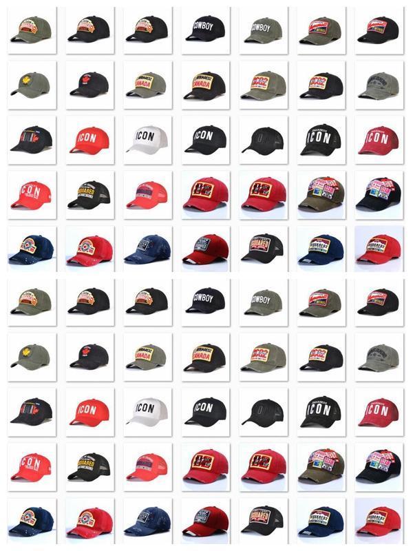 dsquared dsquared2 icon tappi icona della moda del cappello di baseball d2 vendita calda all'ingrosso ricamo mens Snapback berretto cappelli regolabili di golf uomini cap 7ab #