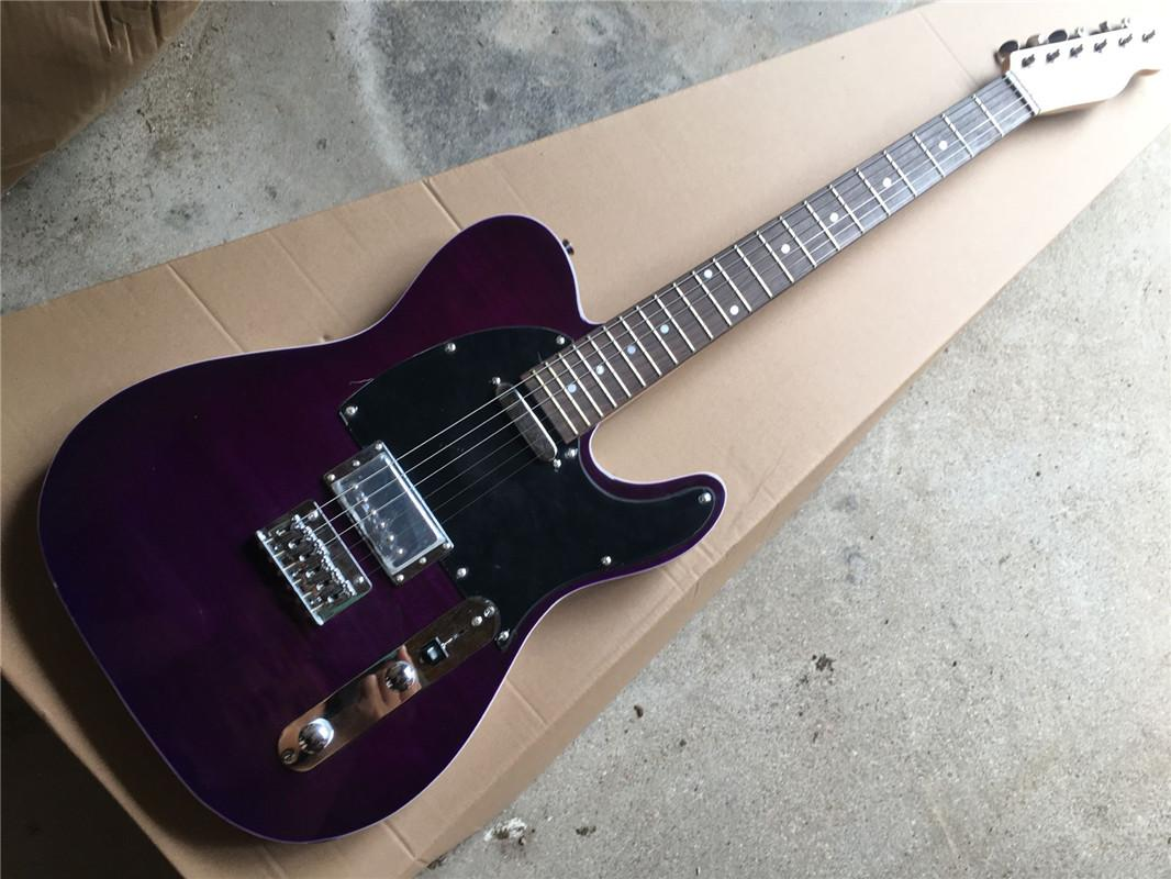 Purple Flame Maple top body Electric Guitar with Rosewood fingerboard,Chrome hardware,2 pickups,can be customized