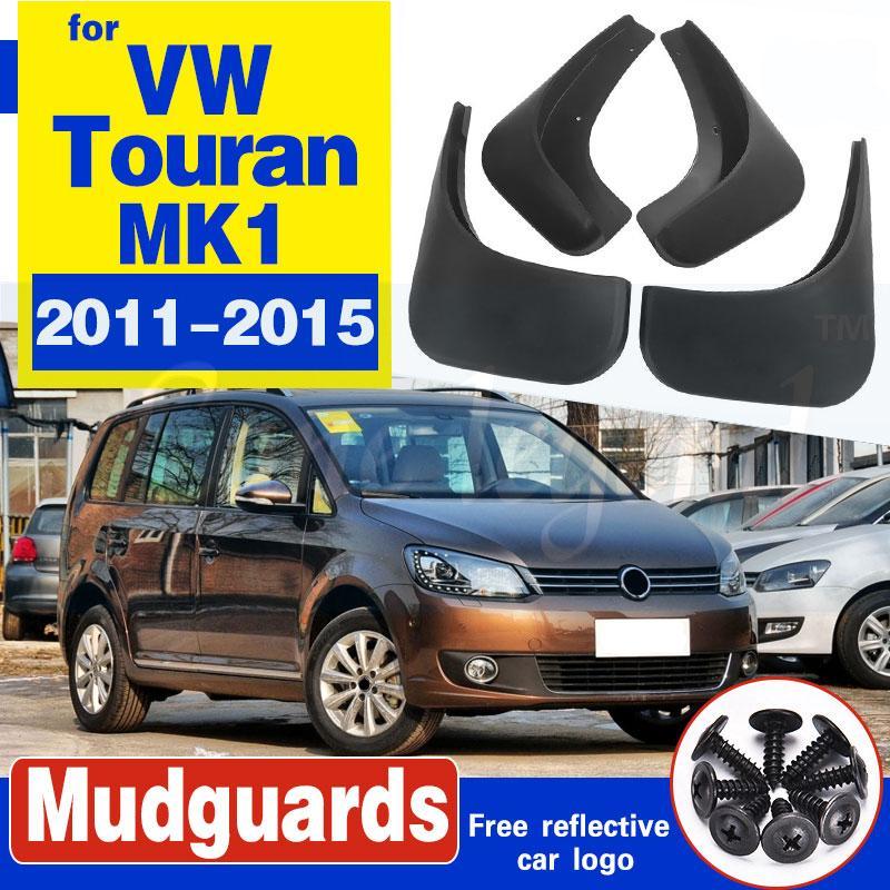 Set Auto-Schmutzfängern für VW Touran 2011 - 2015 Mudflaps Spritzschutz Schmutzfänger Kotflügel Kotflügel vorn hinten Styling 2012 2013 2014
