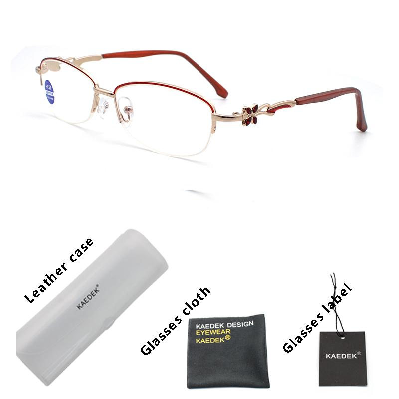 Occhiali da sole Kaedek Telaio in metallo Lenti in vetro femminile maschio Anti-fatica Lettura Occhiali da lettura Donne Uomo Unisex Eyewear Occhiali da ingrandimento occhiali