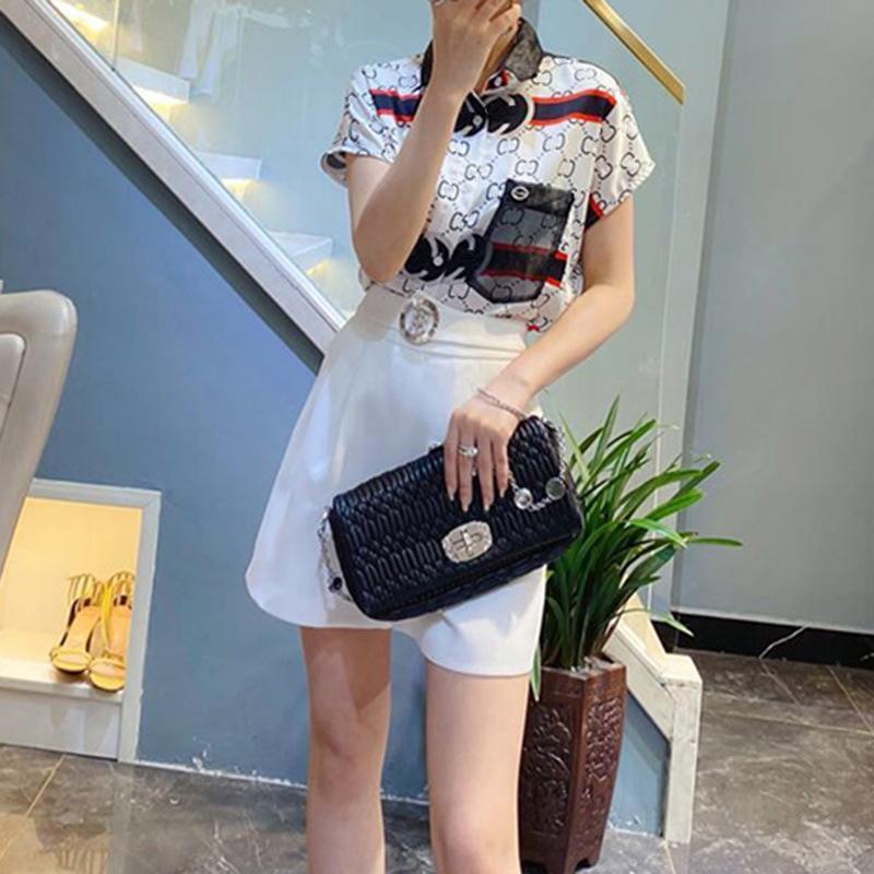 estate vestito e pantaloncini CHCo7 moda 2020 nuova moda europea dea pantaloncini graziose due pezzi in stile occidentale vestito