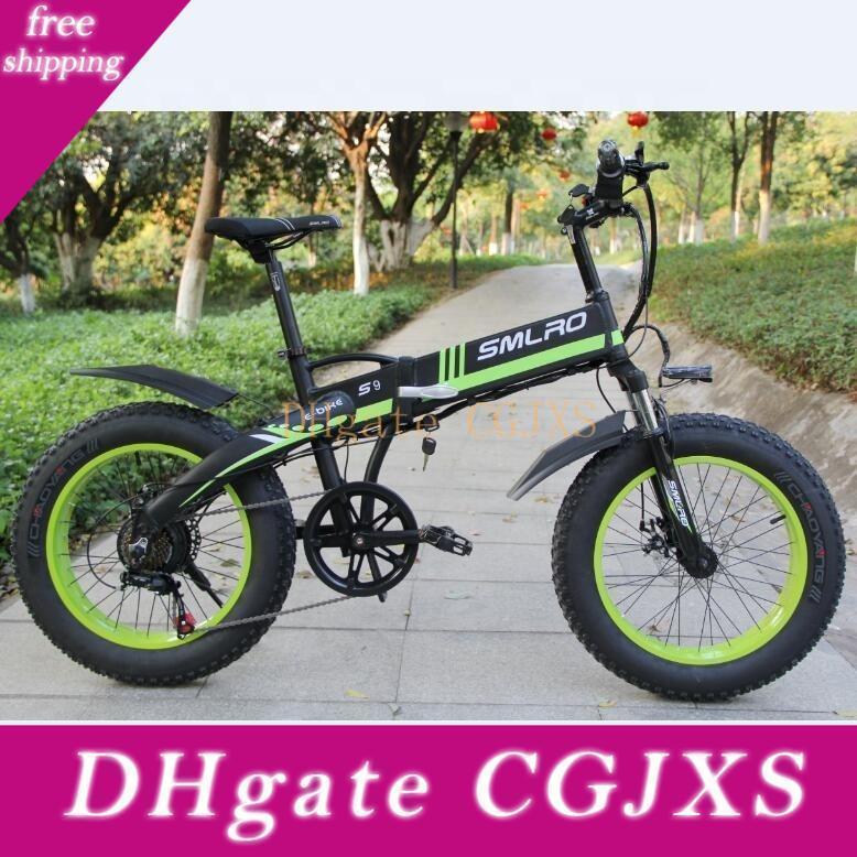 S9f 20 pulgadas 7 Velocidad Fat Tire bicicleta eléctrica bicicleta de montaña / bicicleta de 48v 10ah 350w hecho en China