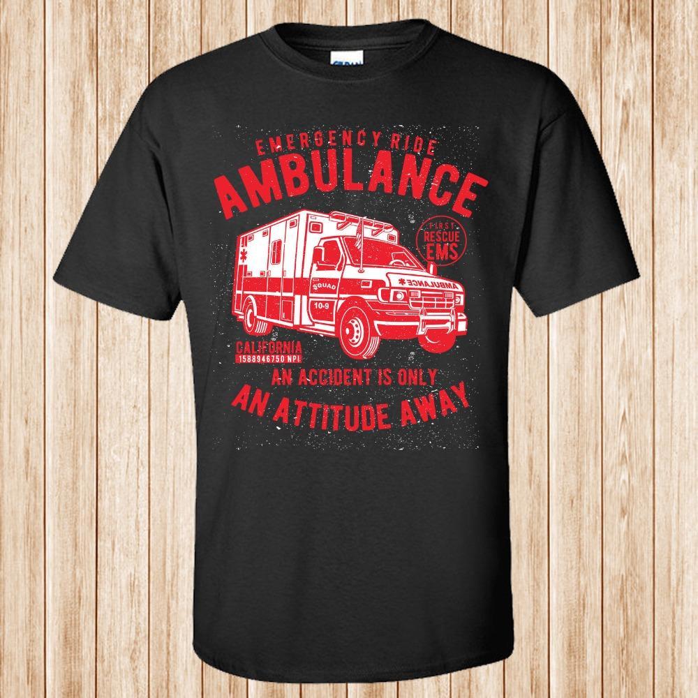 2020 vendita calda camice di modo eccellente Ambulanza T-shirt personalizzate