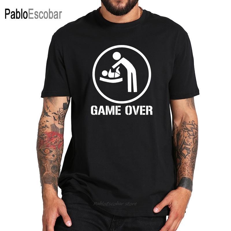 Formato di UE 100% cotone da Best Dad Game Over Padre Day regalo di disegno significativo T-shirt Confortevole