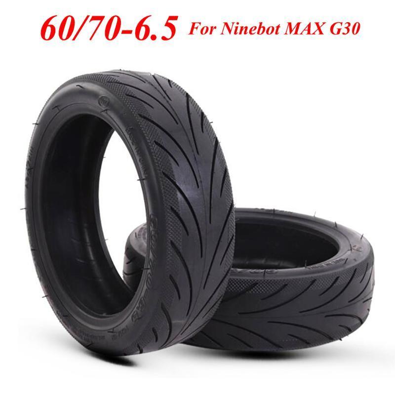 Ninebot MAX G30 KickScooter 전기 스쿠터 10 인치 60 / 70-6.5 전면 및 후면 타이어 휠 타이어 부품에 대한 튜브없는 타이어