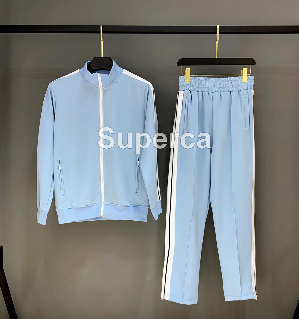 20SS Üst Qaulity Erkekler Spor eşofman Kapüşonlular Harf PA Uzun Kollu Hoodie Pantolon erkek tasarımcı eşofman Boyutu yazdırmak Suits: S-XL