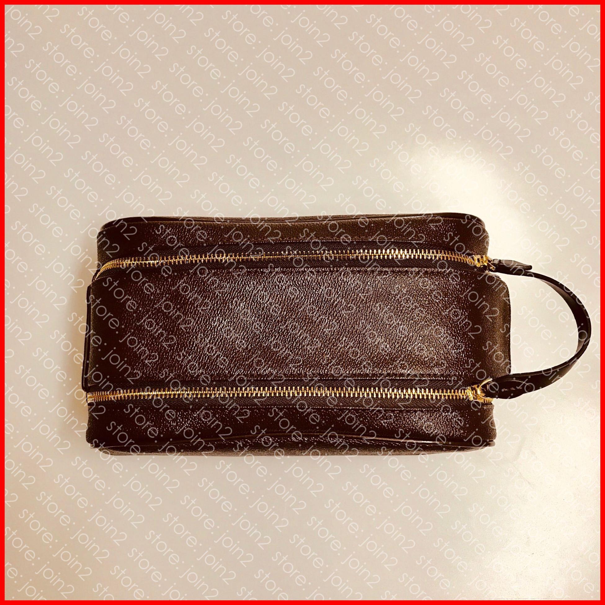 KING SIZE حقيبة أدوات الزينة 25 M47528 مصمم أزياء النساء الرجال في مرحاض التجميل الحقيبة الفاخرة الجمال حالة Pochette اكسسوارات حقيبة عدة N47527