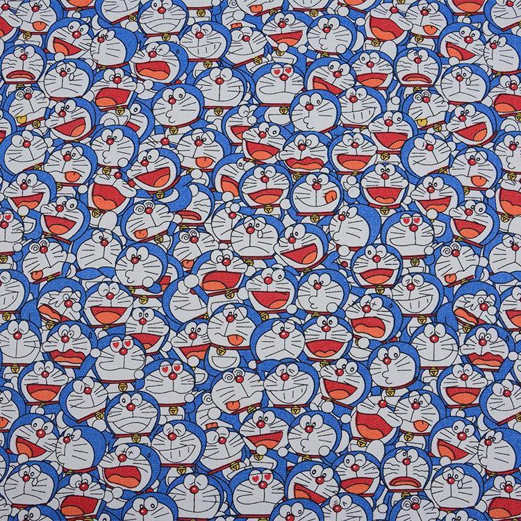 Doraemon Espressione del viso stampato a mano patchwork tela di cotone tessuto cucito Bag Cuscino Diy Tovaglia Curtain Divano T200810