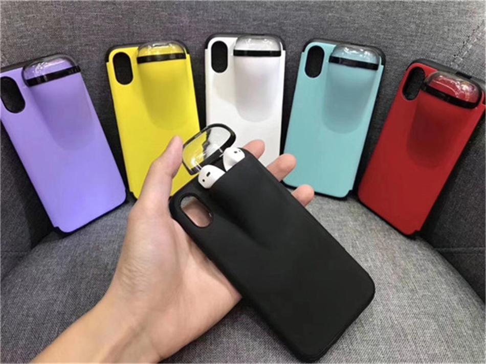 cgjxs New Entwurf Iphone Fall mit Airpods Halter-Kasten für Iphone 6 6s 7 7s 11 X Xr Xs 11Pro Xsmax
