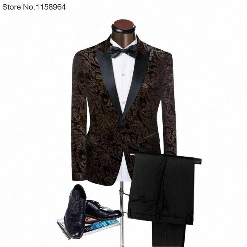 2017 Velvet Man Anzüge nach Maß Bräutigam Smoking Fashion Groomsman Anzug Schlank Heimkehr Anzug Hochzeit Blazer (Jacke + pants) M9ob #