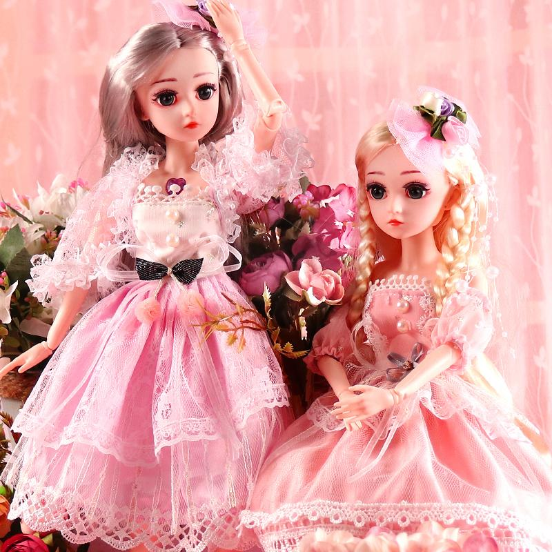 BJD Doll 1/4 SD Dolls 18inch 18 Ball Jointed Dolls with Clothes Outfit Shoes Wig Hair Makeup Best Gift for Girls