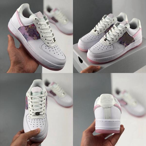 WMNS 07 Utilidad caramelo Macaron muchachas de las mujeres zapatos corrientes del mens Rosa Sombra Lunar de la margarita 1 1s patín de las zapatillas de deporte al aire libre Formadores des Chaussures