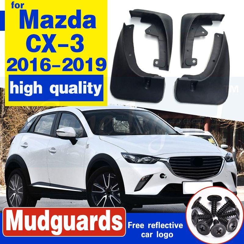 Pour Mazda CX3 CX3 2016 2017-2019 élargisseurs d'ailes boue volets produits Garde-boue Extérieur Pièces couverture de caoutchouc Accessoires