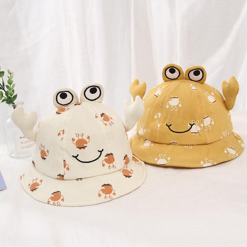 2020 spring and summer new bucket bucket children's infant basin hat baby Korean style crab sunshade pullover fisherman hat