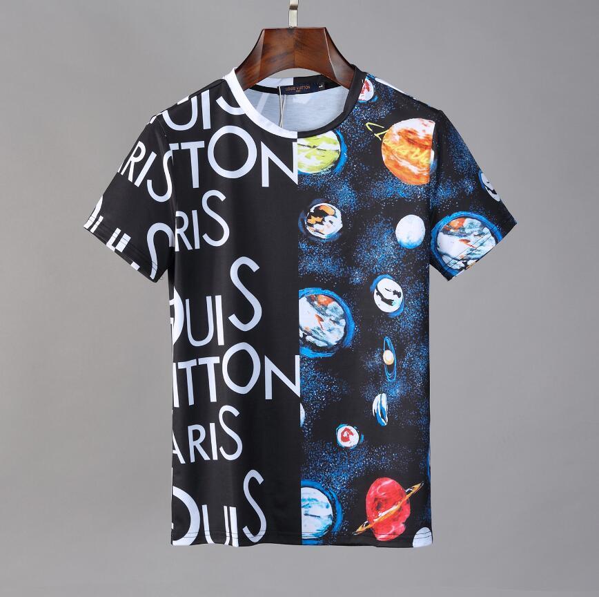 Los más nuevos mens parís verano ropa de lujo caliente del taladro camiseta carta diagonal de impresión camisas de la camiseta de moda T para mujer camisetas del diseñador casual # 02