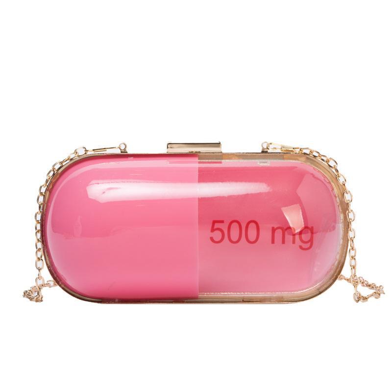 Fun Modedesign Spleißen Farbe Form Damentag Kupplungen Kette Umhängetasche Handtasche weibliche diagonale Mini Umhängetasche