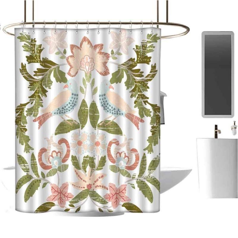 Tropical Duschvorhang für Badezimmer Shabby Chic-Duschvorhang wasserdichtes und bunter