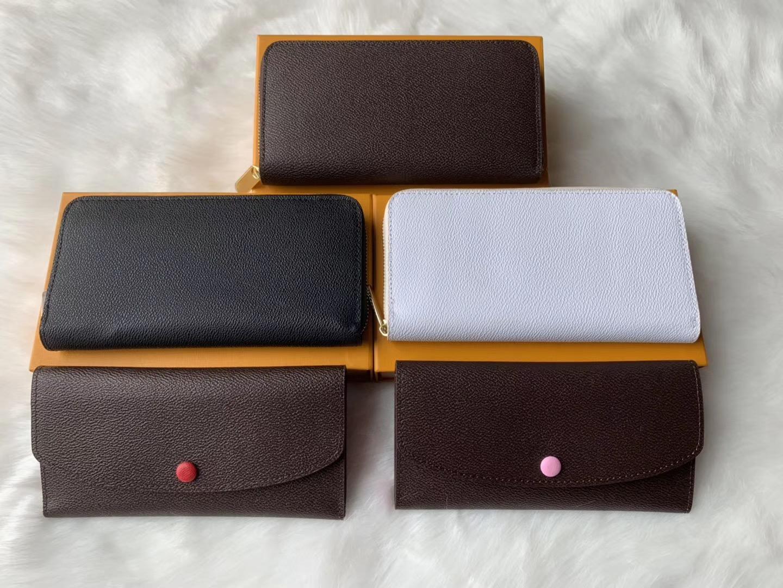 cuero genuino bolsos de diseño carpeta del diseñador de las mujeres de embrague de lujo carpetas de los mens titular de la tarjeta monedero del diseñador billetera con caja 60015 60017