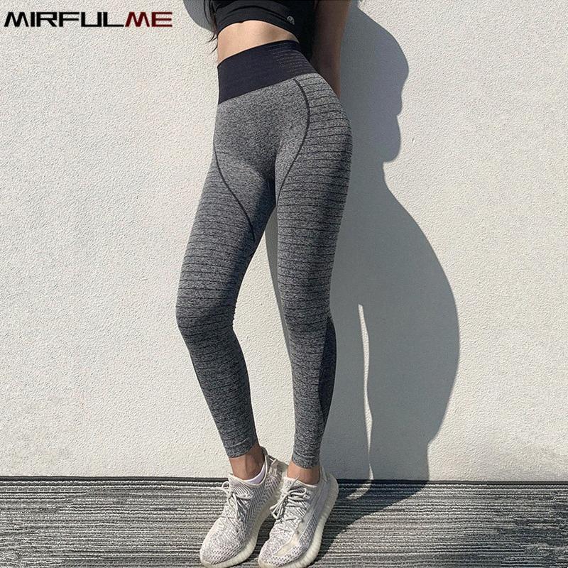 Frauen Yoga Pants Elastic Sexy Hip Sport Gamaschen Frau dünne Quick Dry Capris Stripes Laufhosen Female Gym Fitness Strumpfhosen CYBY #