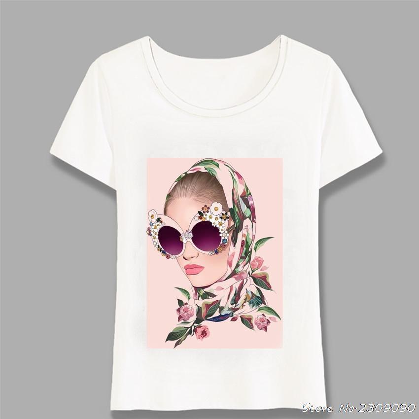 2020 Paradise nueva chica de moda de verano tropical rosada camiseta del inconformista fresca Camiseta de las mujeres de la muchacha las tapas ocasionales de la mujer camisetas Harajuku