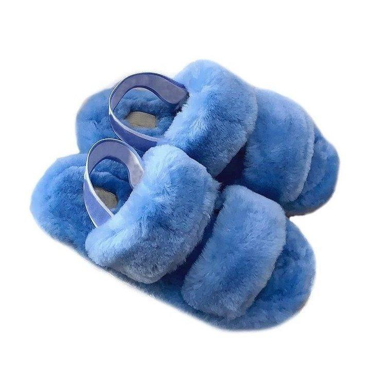 nueva plataforma zapatos mullidas 2020 el nuevo verano código externo L de diapositivas sandalias deslizadores de las mujeres de las señoras de invierno cubierta de la venta caliente