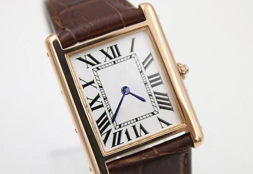 2020 nuevo lujo del cuarzo del cuero América del oro a la banda roja para mujer Relojes del reloj del deporte de zafiro calidad de las señoras zafiro Esfera original de cierre Wa