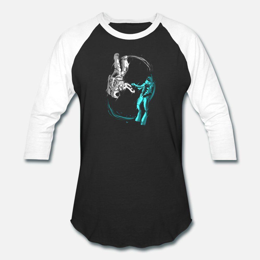 Astronauta Nello Spazio Scuba Diver in acque profonde del Mare uomini della maglietta personalizzata dimensioni maglietta S-3XL cute freddo della camicia della molla Lettera New Fashion