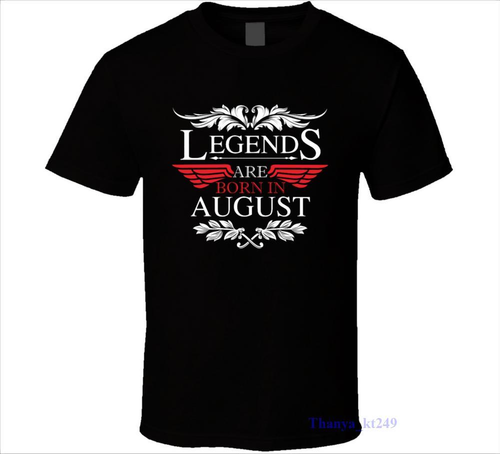 2019 Moda 100% algodão Slim Fit Top shirt de manga curta Hipster Tees lendas são nascidos em agosto T Giftnerd aniversário camisetas