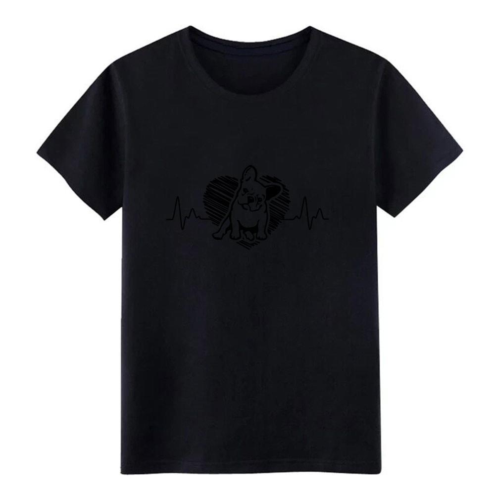 bulldog inglese battito cardiaco uomini della maglietta personalizzata T-shirt da S-3XL lettere allentato divertente Primavera Autunno naturale