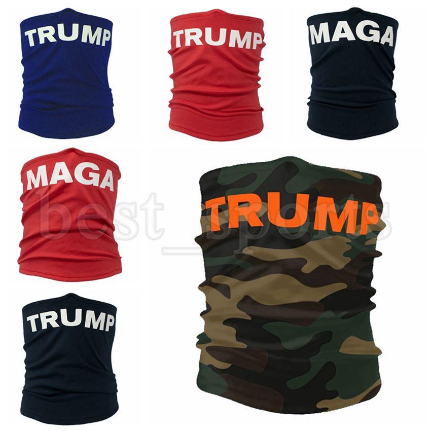 Trump Yüz MAGA Koruyucu Açık Bisiklet Magic Eşarp Bandana Kafa Turban Trump Maskeler CYZ2720 Maskesi