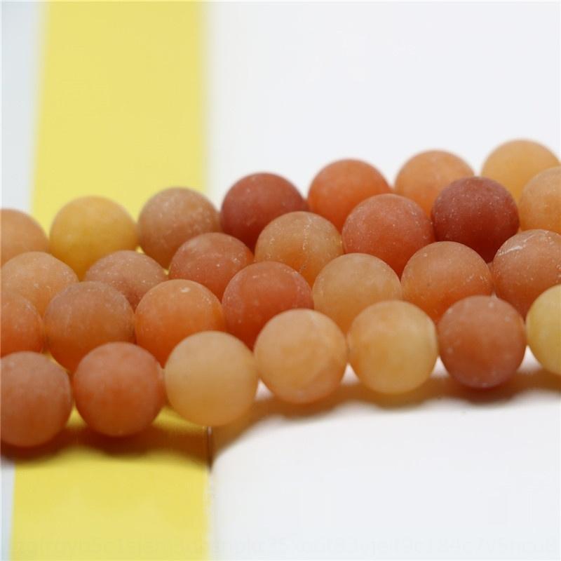 GksJ0 Natural bricolaje accesorios accessoriesstone esmerilado rojo Dongling granos redondos accesorios de imitación de piedra sol Jade productos semiacabados