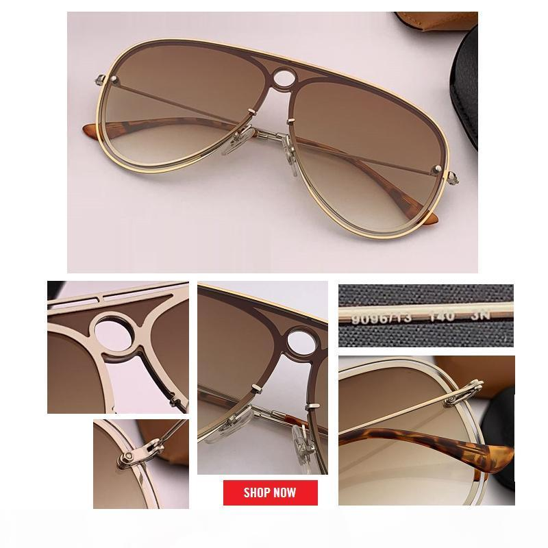 Più nuovo progettista di marca per le donne da sole oversize fiammata degli occhiali da sole delle signore delle donne di grandi dimensioni Aviation femminili gradiente UV400 Occhiali lenti